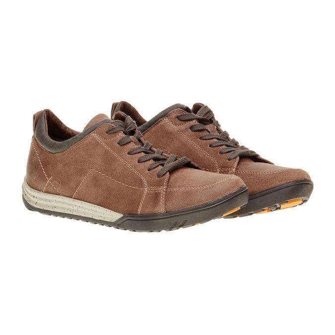 Kožené ležérní tenisky bata, hnědá, 843-3386 - 26