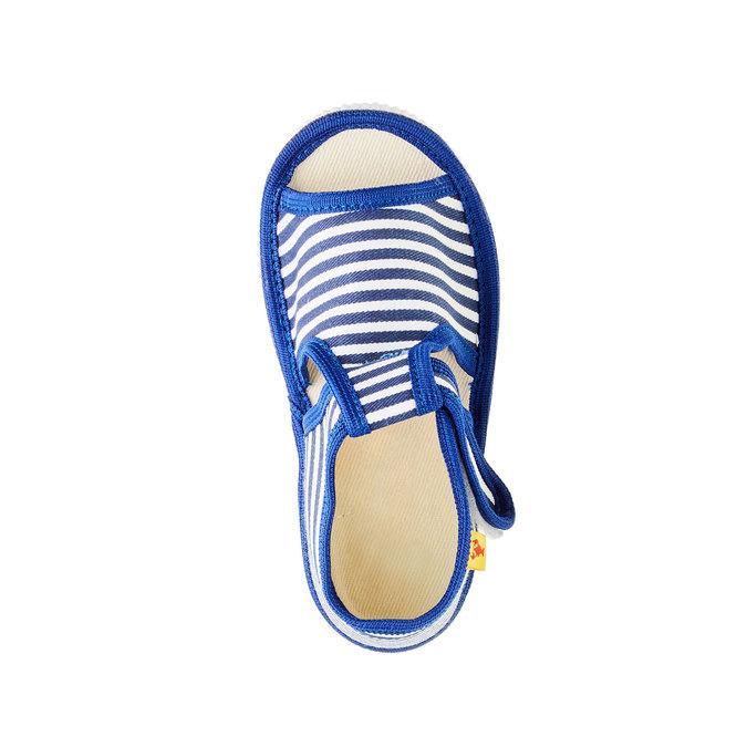 Dětská domácí obuv bata, modrá, 179-9102 - 19