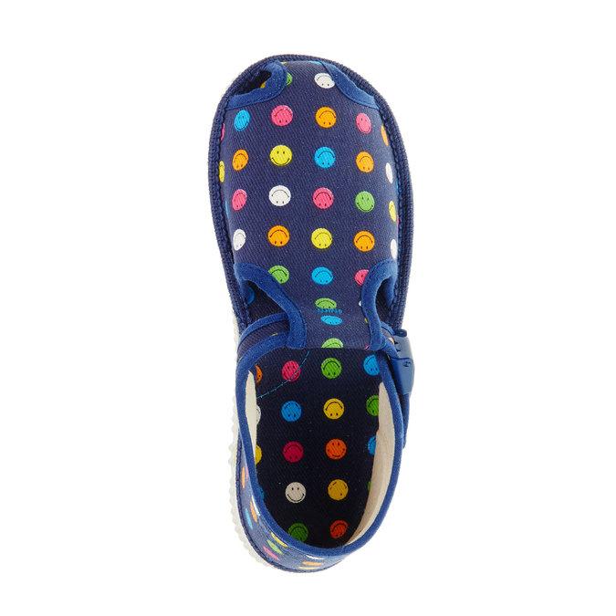 Dětská domácí obuv bata, modrá, 179-9100 - 19