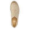 Dámské kožené polobotky se zdobením bata, béžová, 524-8482 - 19