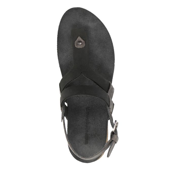 Dámské kožené sandály weinbrenner, černá, 566-6101 - 19