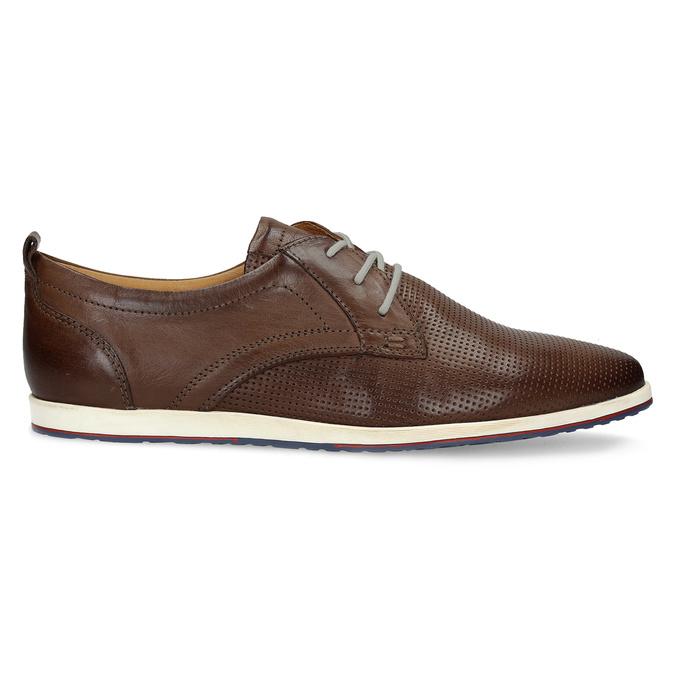Ležérní kožené tenisky bata, hnědá, 824-4124 - 19