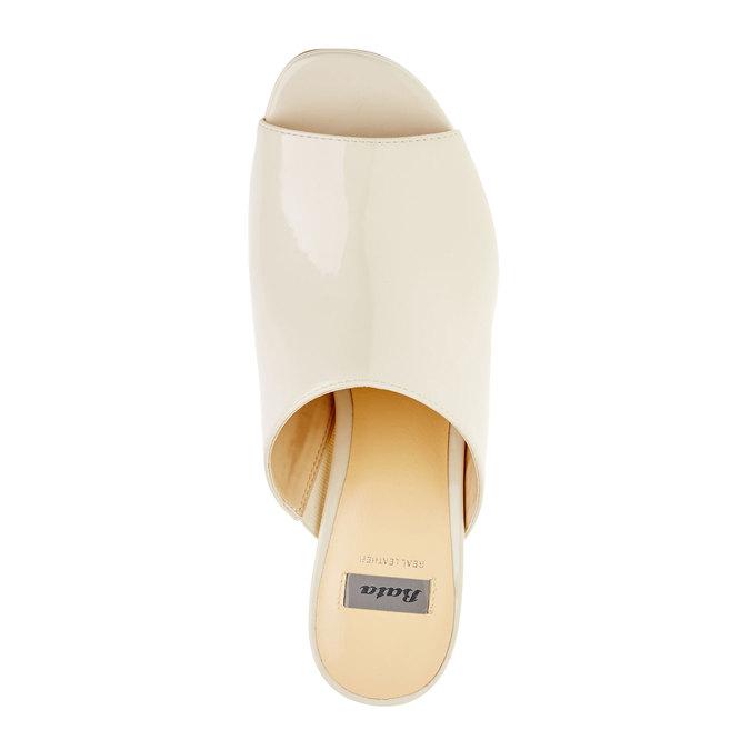 Dámské sandály na vysokém podpatku bata, béžová, 761-8551 - 19