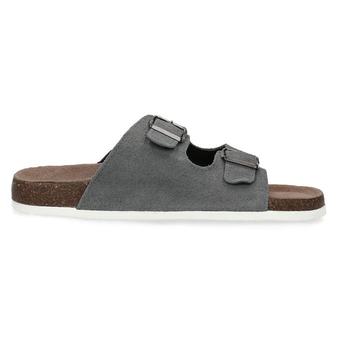 Pánská domácí obuv de-fonseca, šedá, 873-2610 - 19