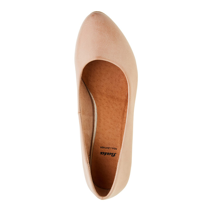 Dámské lodičky na zkoseném podpatku bata, růžová, 621-5949 - 19