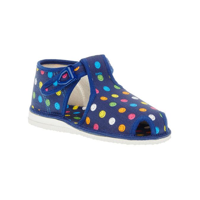 Dětská domácí obuv bata, modrá, 179-9100 - 13