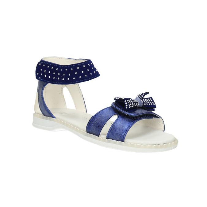 Dívčí sandály s mašlí mini-b, modrá, 261-9160 - 13