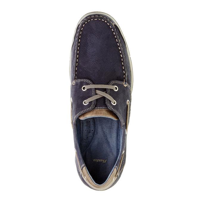Ležérní kožené mokasíny bata, modrá, 856-9176 - 19