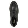 Kožené polobotky s výraznou podešví bata, černá, 826-6641 - 19