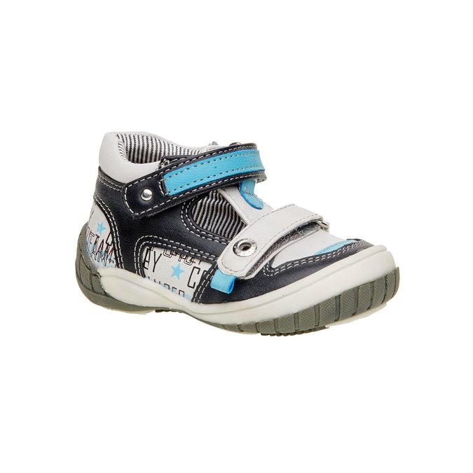 Kotníčkové boty s průstřihy mini-b, šedá, 111-2102 - 13