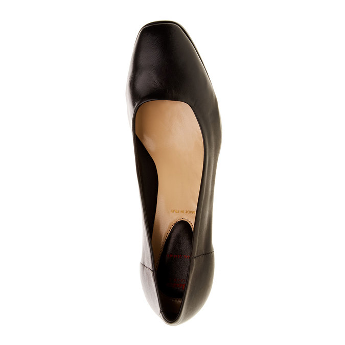 Dámské kožené lodičky flexible, černá, 624-6706 - 19