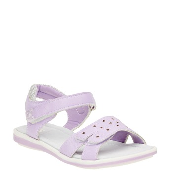 Dívčí sandály na suchý zip mini-b, fialová, 361-9180 - 13