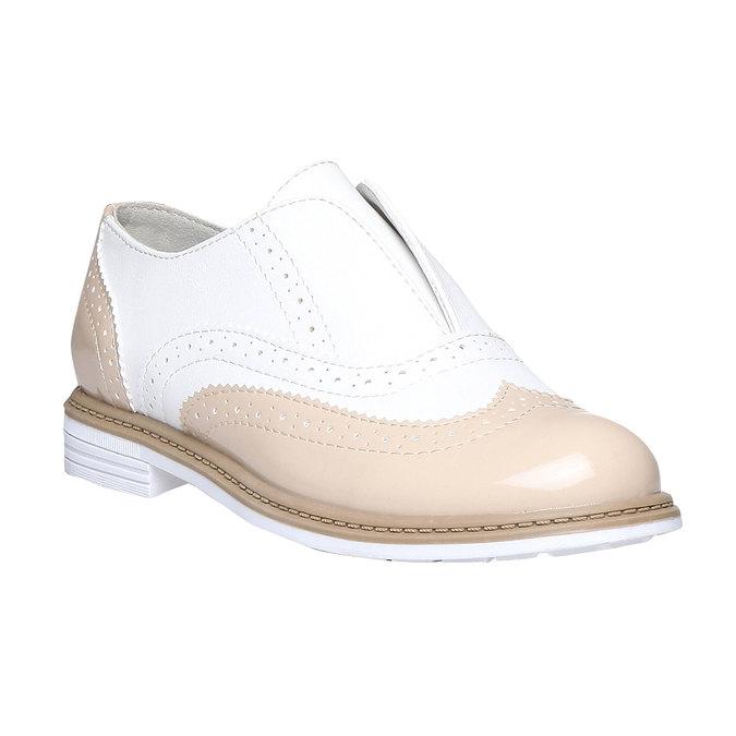 Dětské polobotky ve stylu Spectator shoes mini-b, béžová, 321-5178 - 13