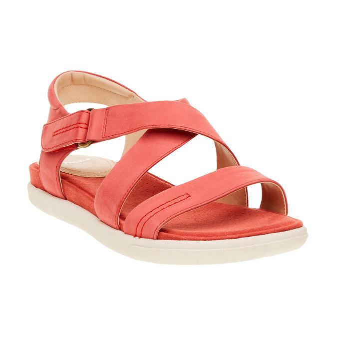 Dámské červené kožené sandály bata, červená, 564-5351 - 13