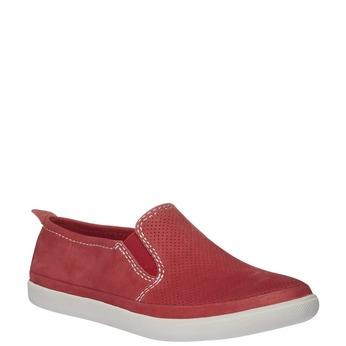 Kožené Plim Soll boty s perforací bata, červená, 514-5197 - 13
