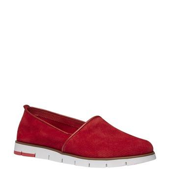 Kožené Slip-on boty s perforací flexible, červená, 513-5200 - 13