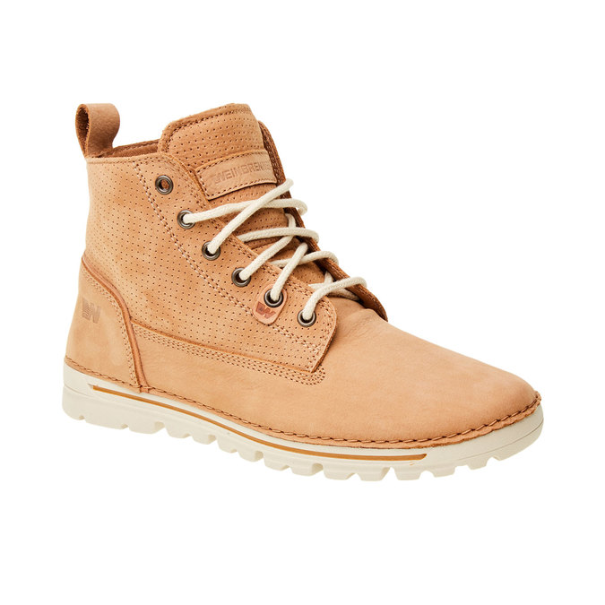 Kožené kotníčkové boty weinbrenner, hnědá, 594-3531 - 13