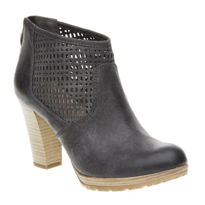 Kotníčkové kozačky na podpatku bata, černá, 691-6106 - 13