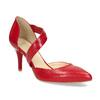 Kožené Lodičky s páskem bata, červená, 724-5904 - 13