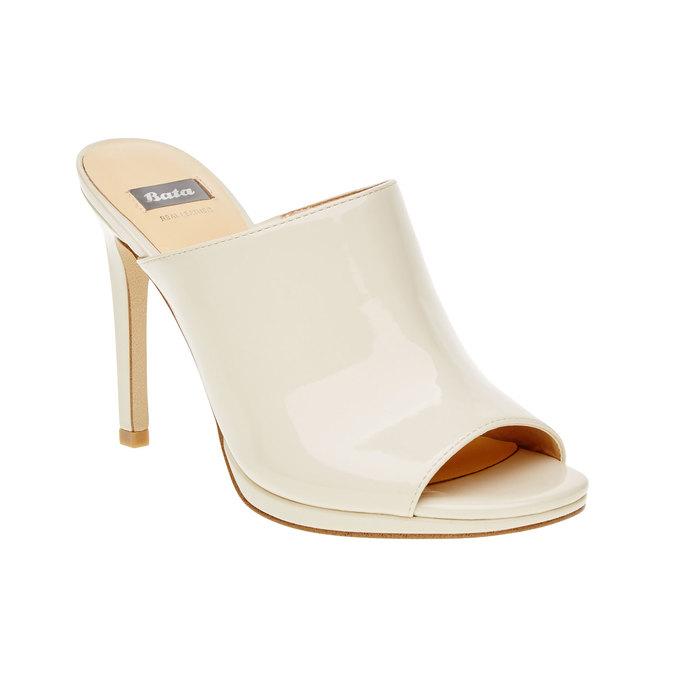 Dámské sandály na vysokém podpatku bata, béžová, 761-8551 - 13