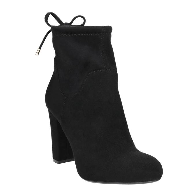 Kotníčkové kozačky na podpatku bata, černá, 799-6604 - 13