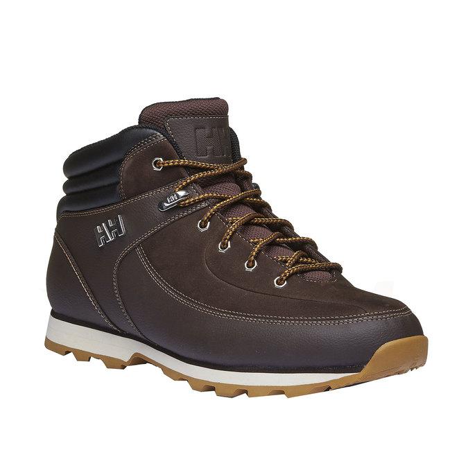 Kožené zimní boty ke kotníkům helly-hansen, hnědá, 894-4020 - 13