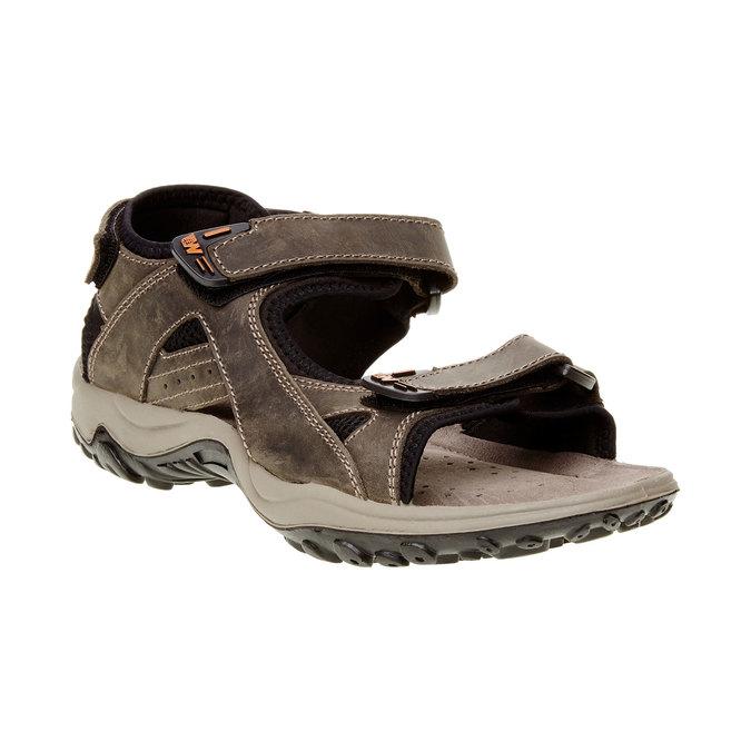 Pánské kožené sandály weinbrenner, hnědá, 866-2106 - 13