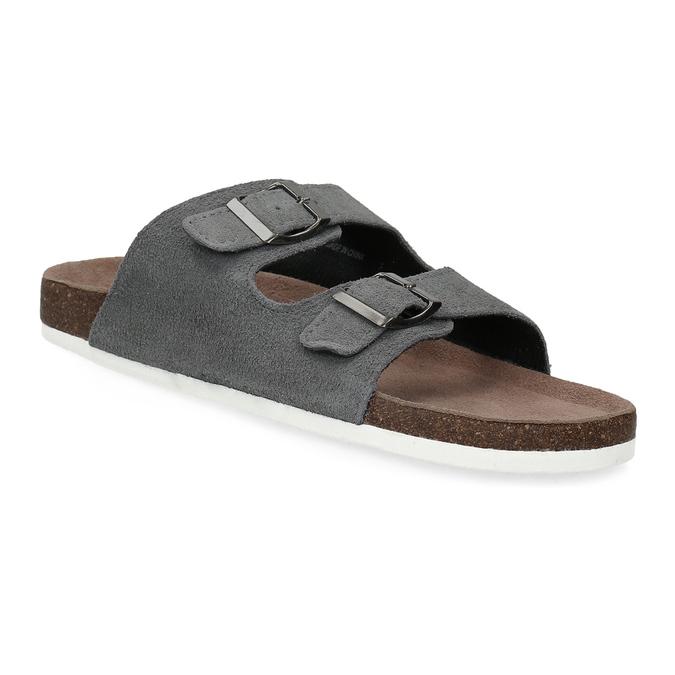 Pánská domácí obuv de-fonseca, šedá, 873-2610 - 13