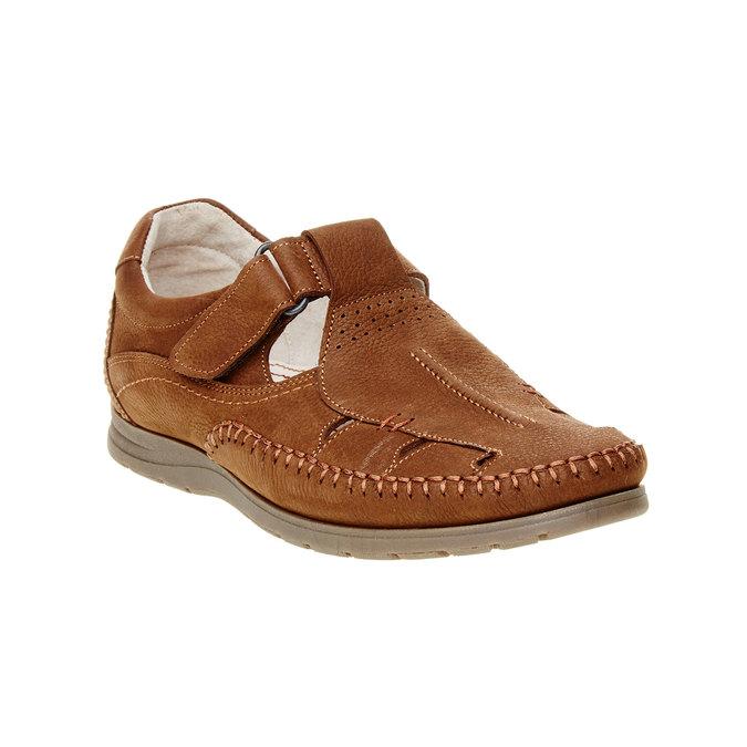 Pánské kožené sandály comfit, hnědá, 866-4184 - 13