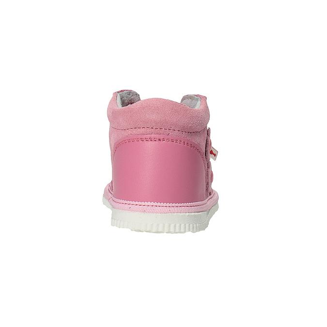 Dívčí kožená domácí obuv, růžová, 104-5001 - 17