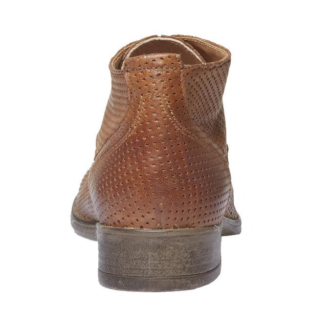 Dámské kožené kotníčkové boty bata, hnědá, 524-3468 - 17