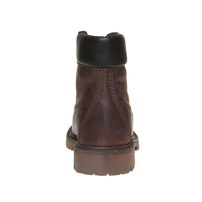 Dětská kožená zimní obuv weinbrenner-junior, hnědá, 394-4182 - 17