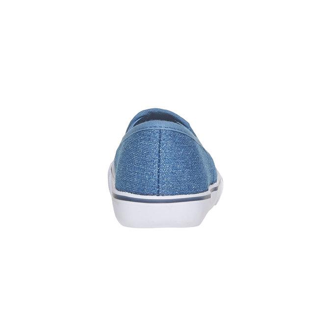 Dívčí Slip on boty s kamínky mini-b, modrá, 229-9148 - 17