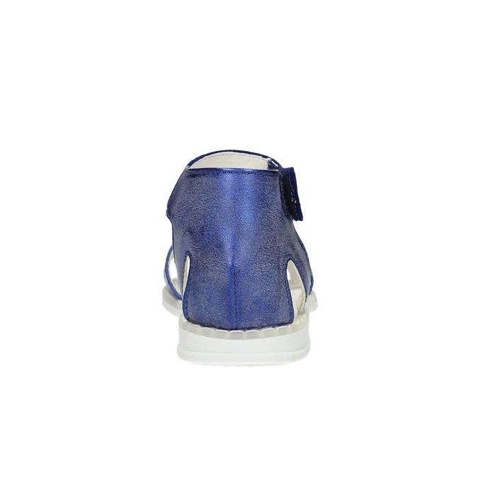 Dívčí sandály s mašlí mini-b, modrá, 261-9160 - 17