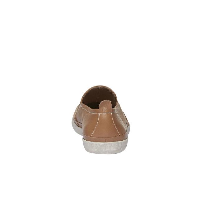 Kožené Plim Soll boty s perforací bata, hnědá, 514-3197 - 17