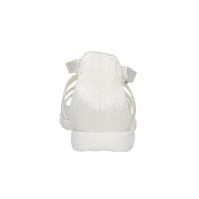 Dívčí sandály s kytičkami mini-b, bílá, 261-1161 - 17