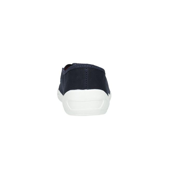Dětská domácí obuv mini-b, modrá, 379-9211 - 17