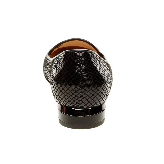 Dámské kožené mokasíny bata, černá, 524-6412 - 17