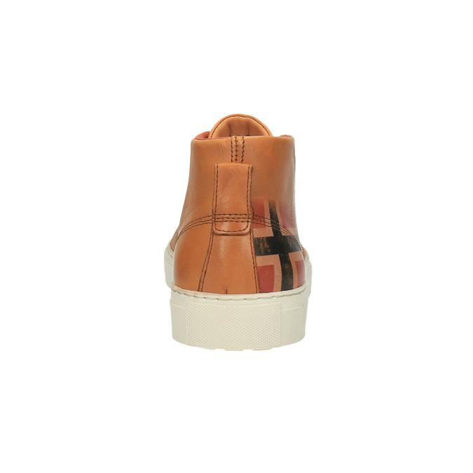 Kožená kotníčková obuv napapijri, hnědá, 894-3006 - 17