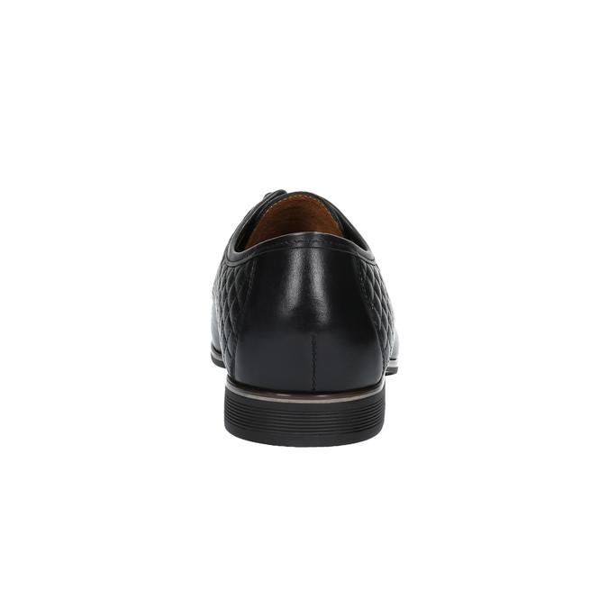 Kožené polobotky s prošíváním conhpol, černá, 824-6737 - 17