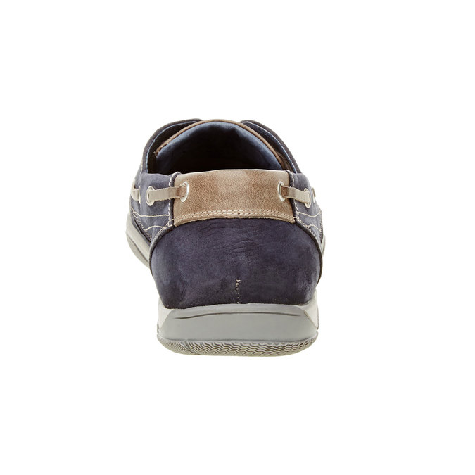 Ležérní kožené mokasíny bata, modrá, 856-9176 - 17