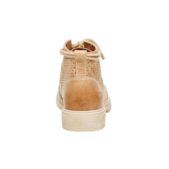 Kožené kotníčkové boty weinbrenner, hnědá, 594-4138 - 17