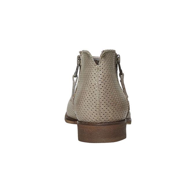Kožené kotníčkové kozačky bata, béžová, 594-2400 - 17