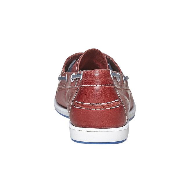 Pánské kožené mokasíny bata, červená, 854-5188 - 17
