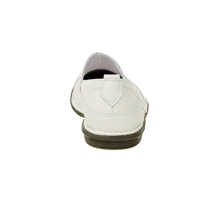 Dámská kožená obuv bata, bílá, 556-1100 - 17