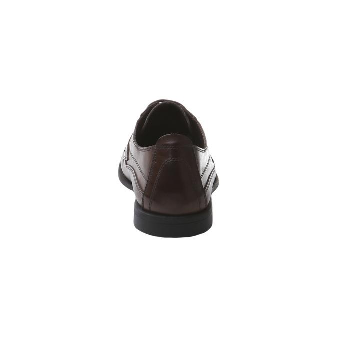 Kožená obuv na šněrování bata, hnědá, 854-4836 - 17