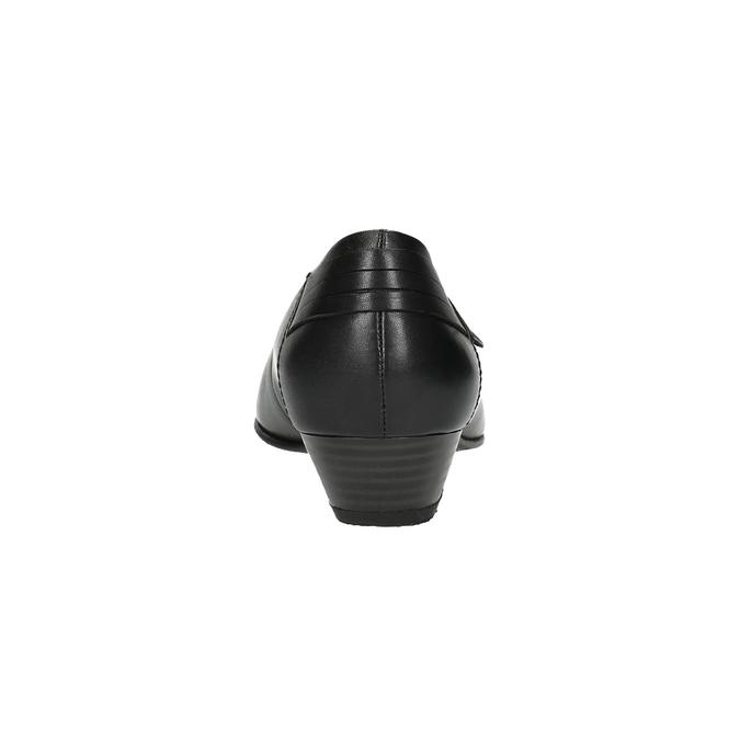 Kožené lodičky na nízkém podpatku bata, černá, 624-6603 - 17