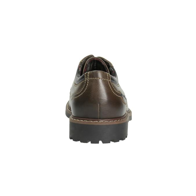 Kožené polobotky s výraznou podešví bata, hnědá, 826-4641 - 17