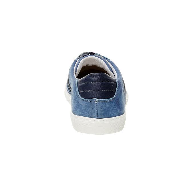 Ležérní tenisky z broušené kůže bata, modrá, 846-9638 - 17