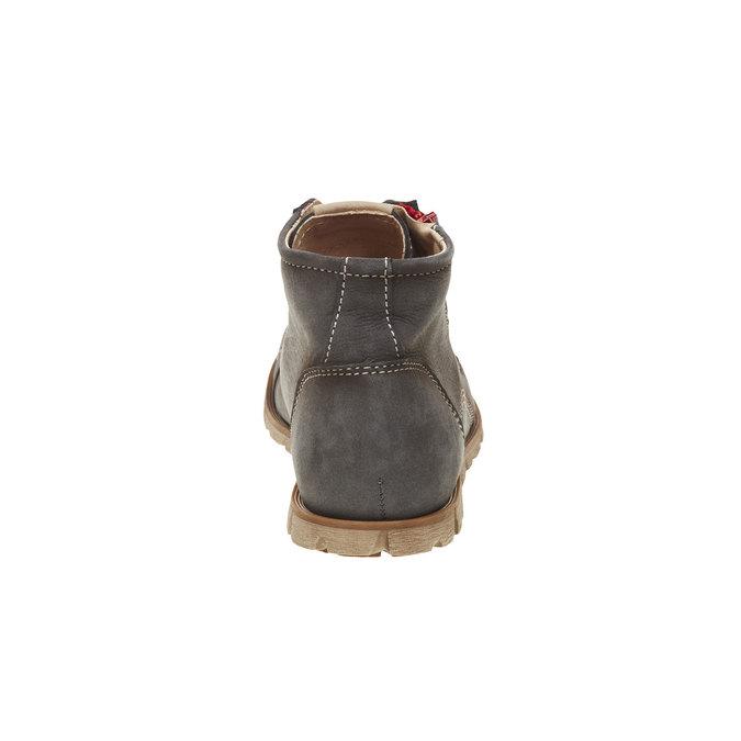 Kožené kotníčkové tenisky se zipem weinbrenner, šedá, 596-9110 - 17